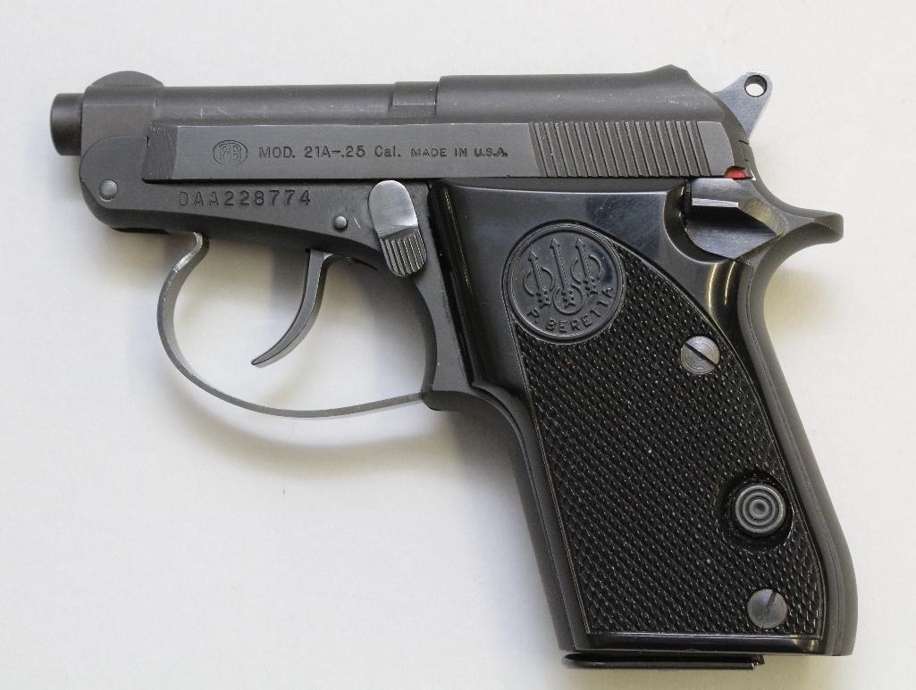 Beretta Model 21A Bobcat semi-automatic pistol. - 2