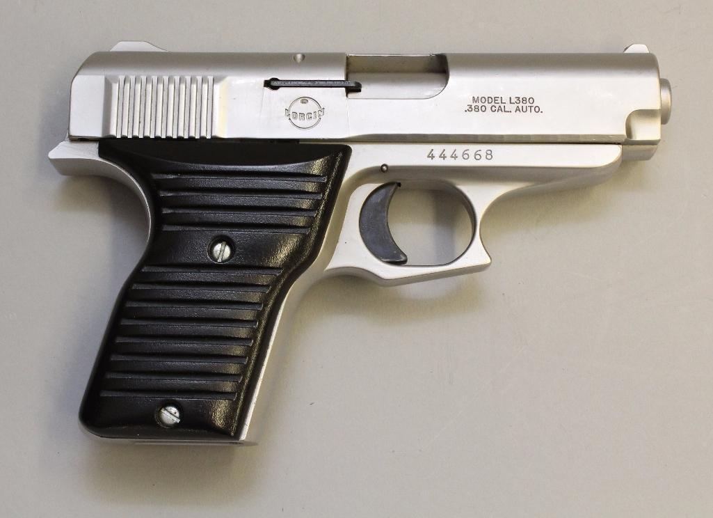 Lorcin L380 semi-automatic pistol.