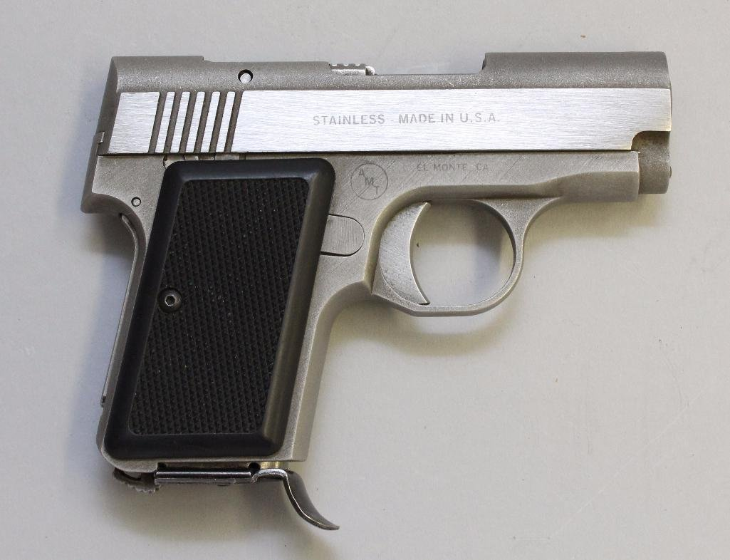 AMT Back Up semi-automatic pistol.