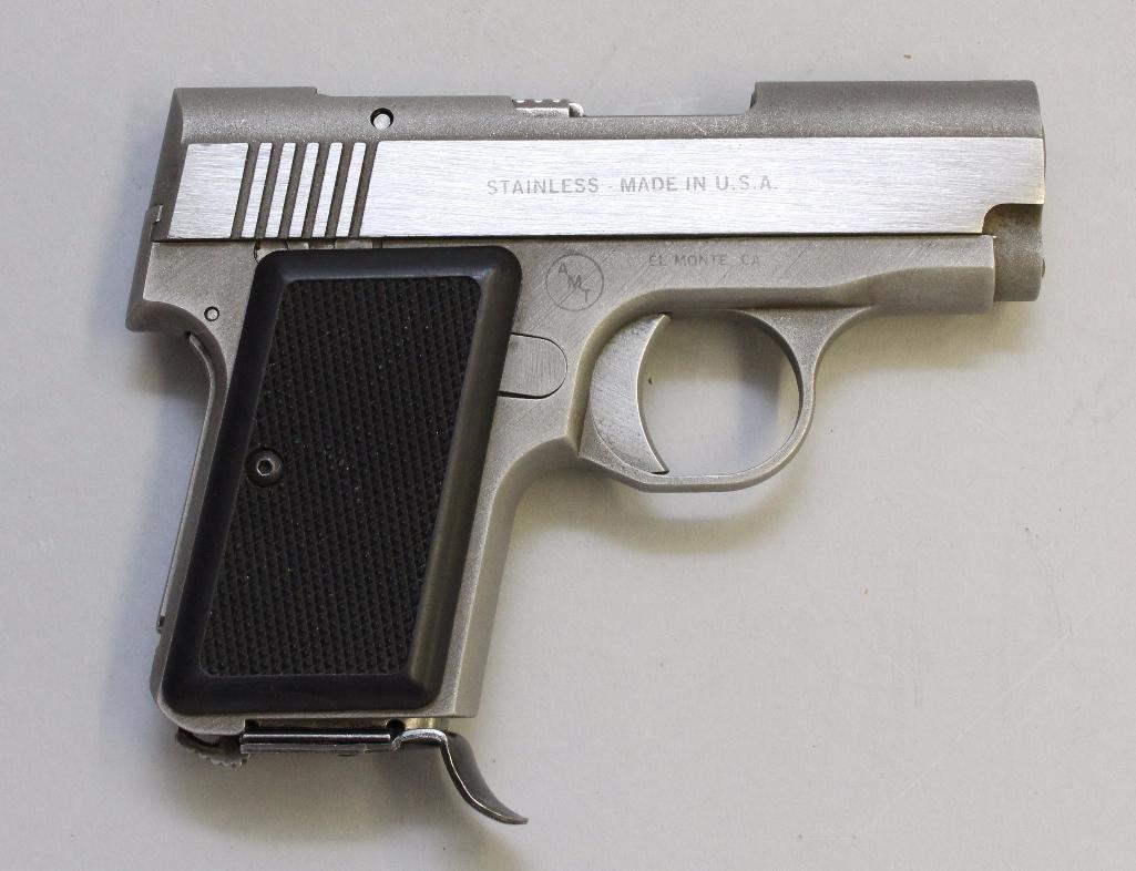 AMT Back Up semi-automatic pistol.
