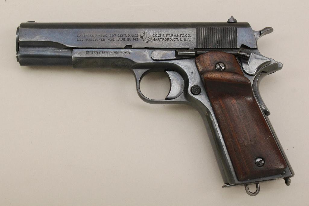 Colt Model 1911 US Army semi-automatic pistol.
