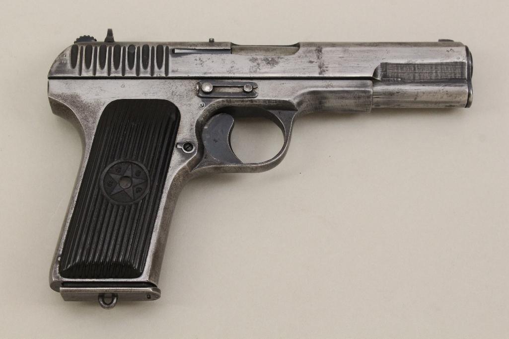 Tokarev Model TT semi-automatic pistol.