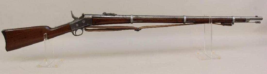 Model 1871 rolling block US Army rifle.
