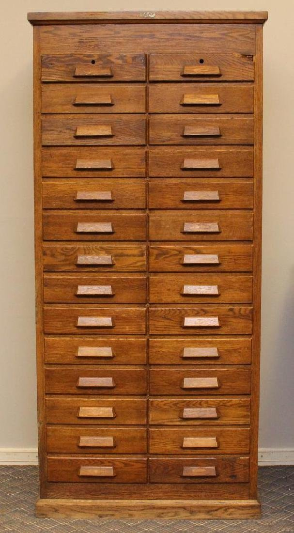 E.H. Sheldon Oak Filing Cabinet