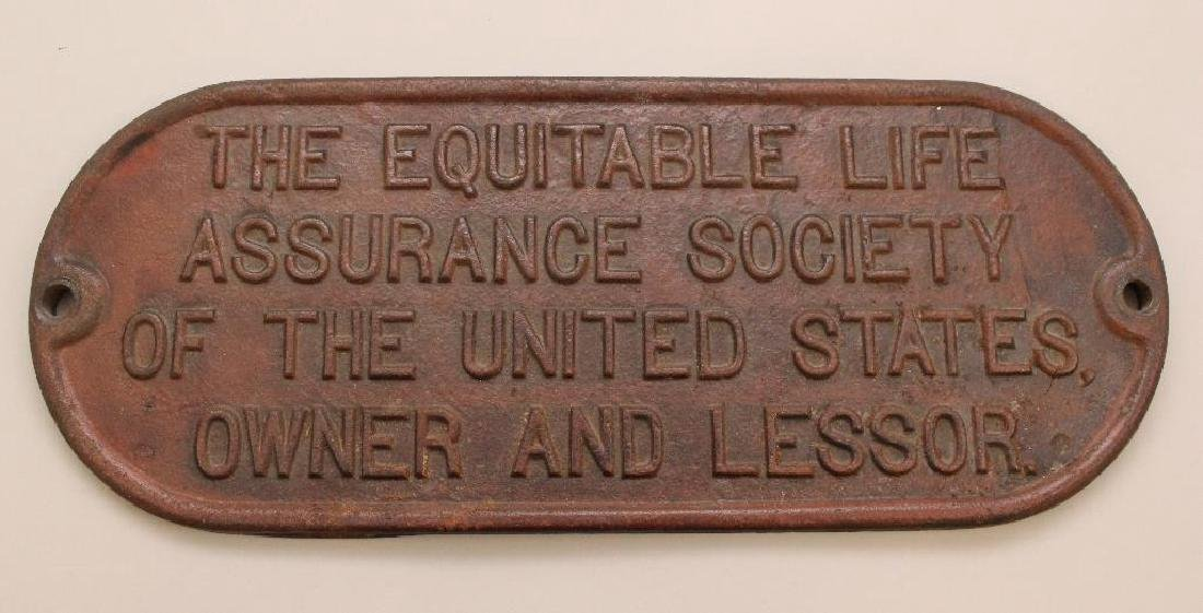 The Equitable Life Assurance Society Trust Plate