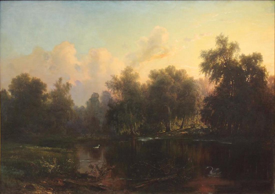 Oil on Canvas on Masonite Landscape