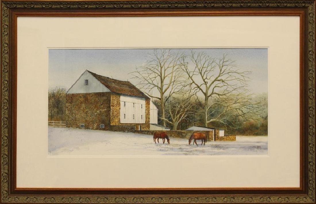 Cymbor, Carol Watercolor Farmscape