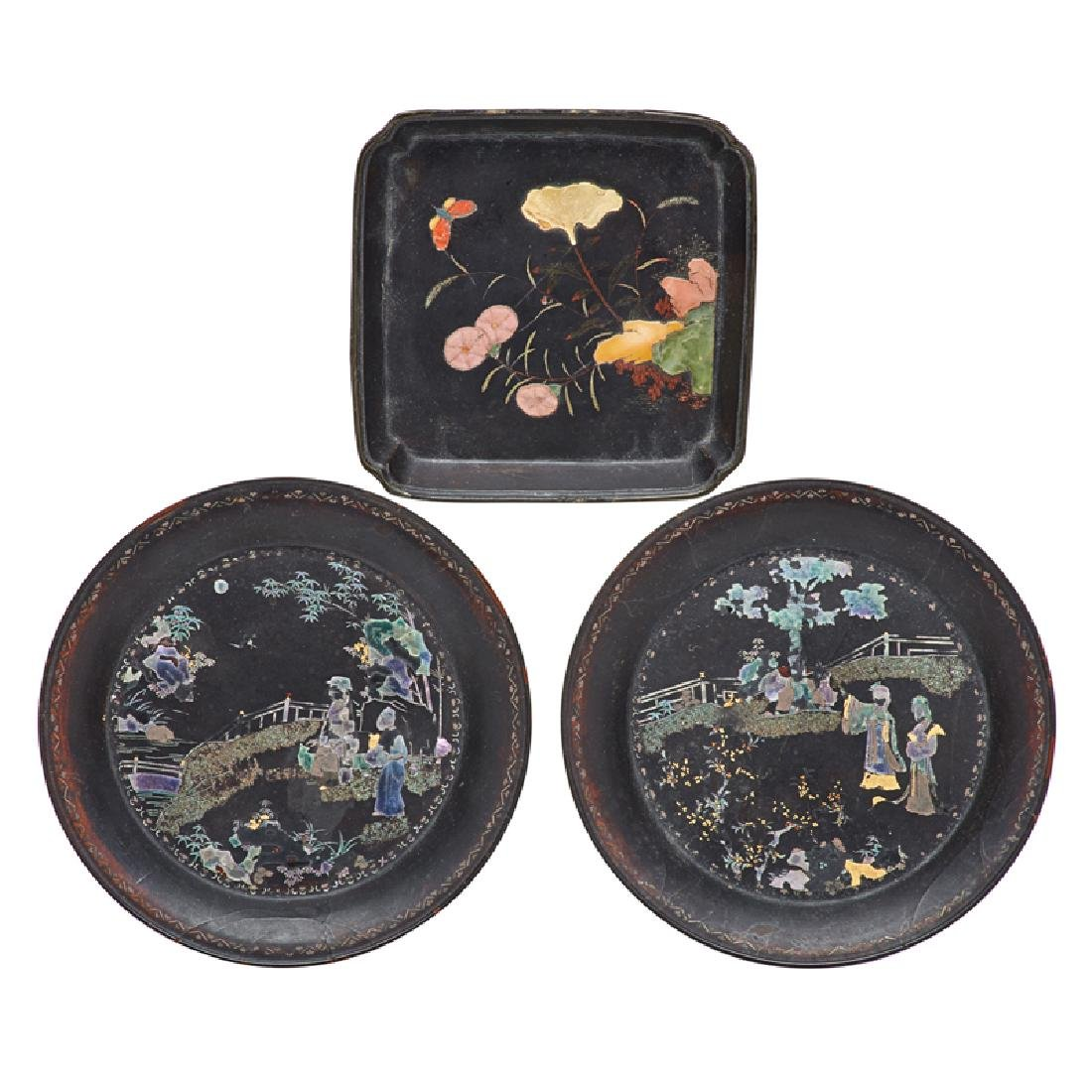 KANGXI PERIOD LACQUERED DISHES
