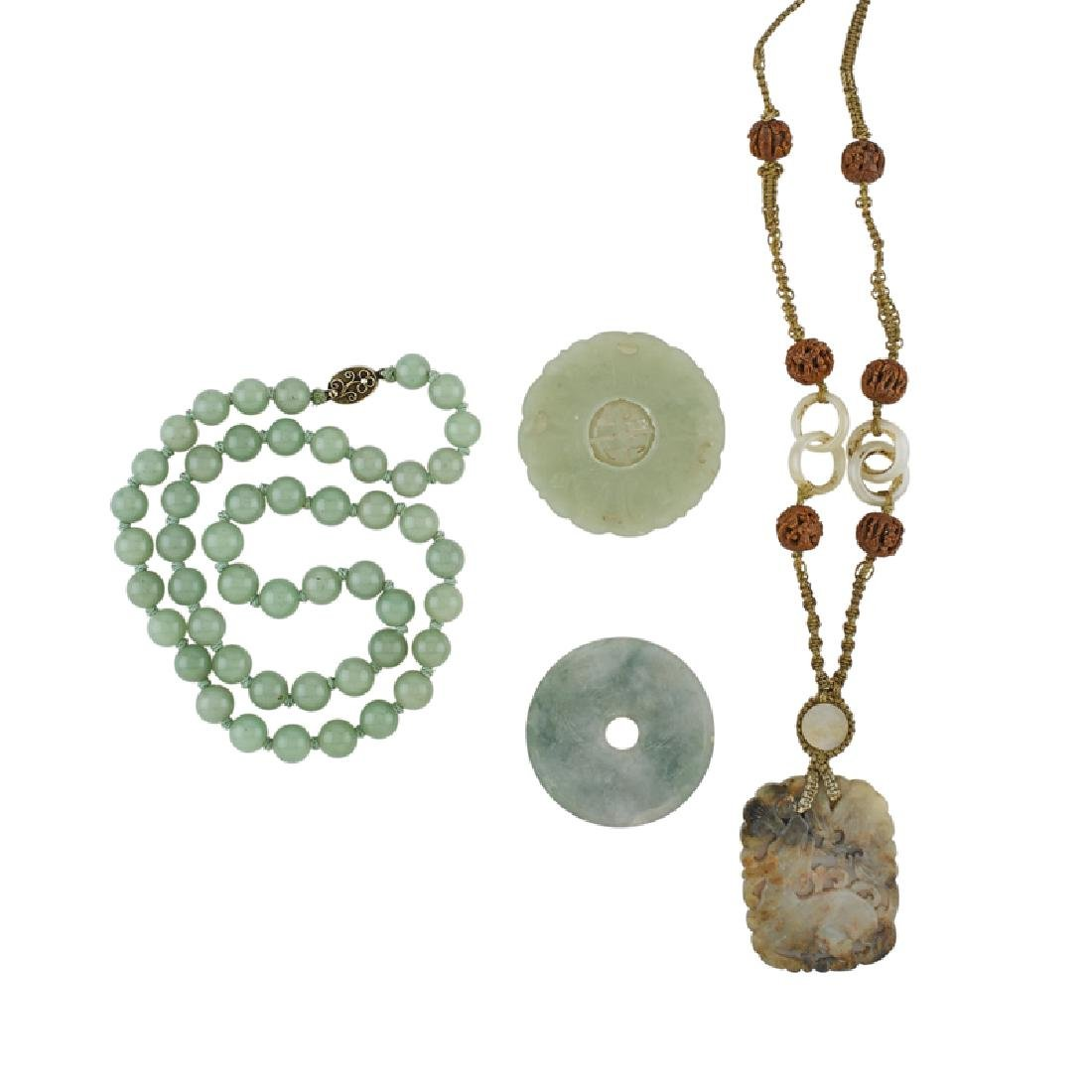 GROUP OF JADE JEWELRY