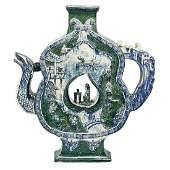 MONUMENTAL CHINESE CERAMIC TEAPOT FORM VASE