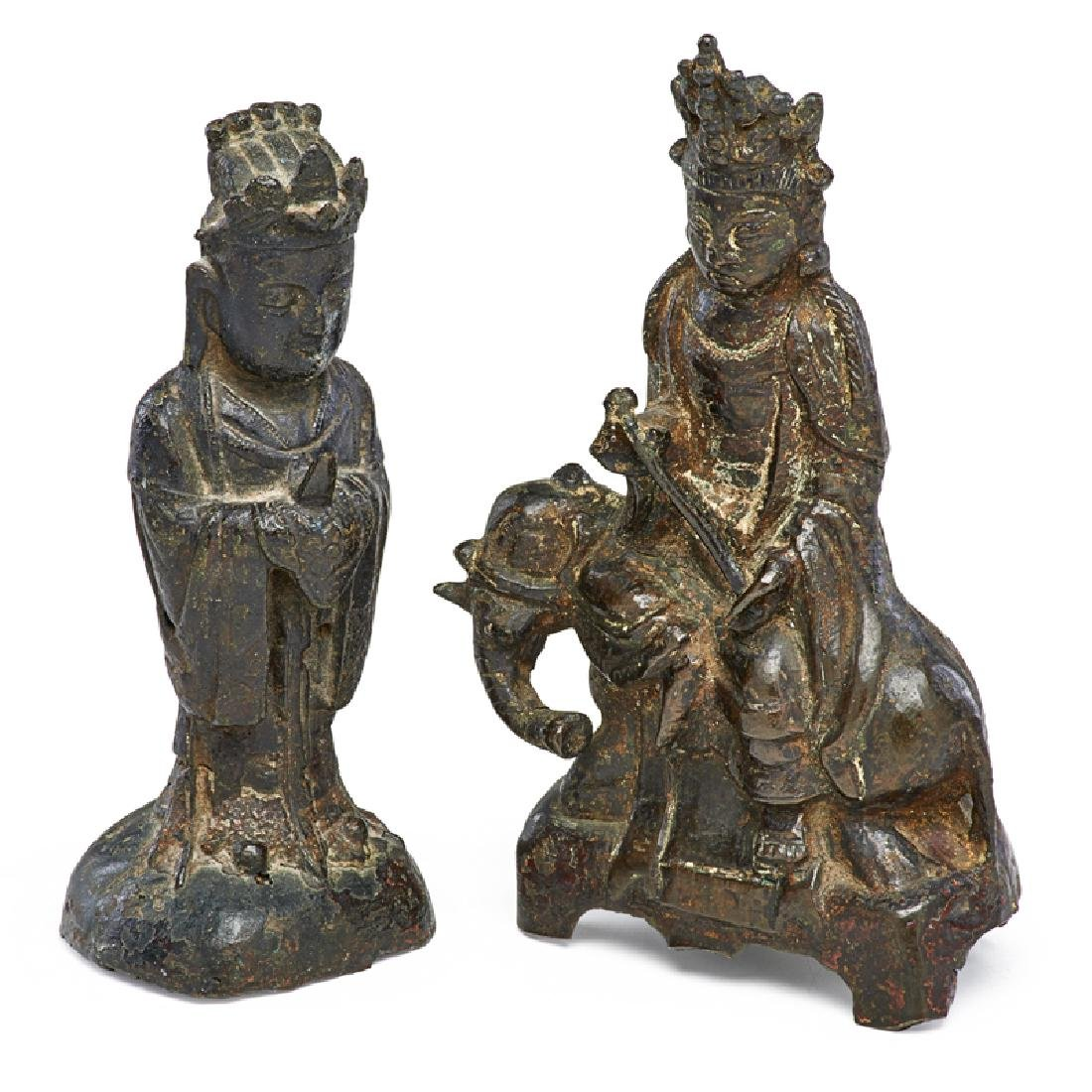 TWO MING-STYLE BRONZES