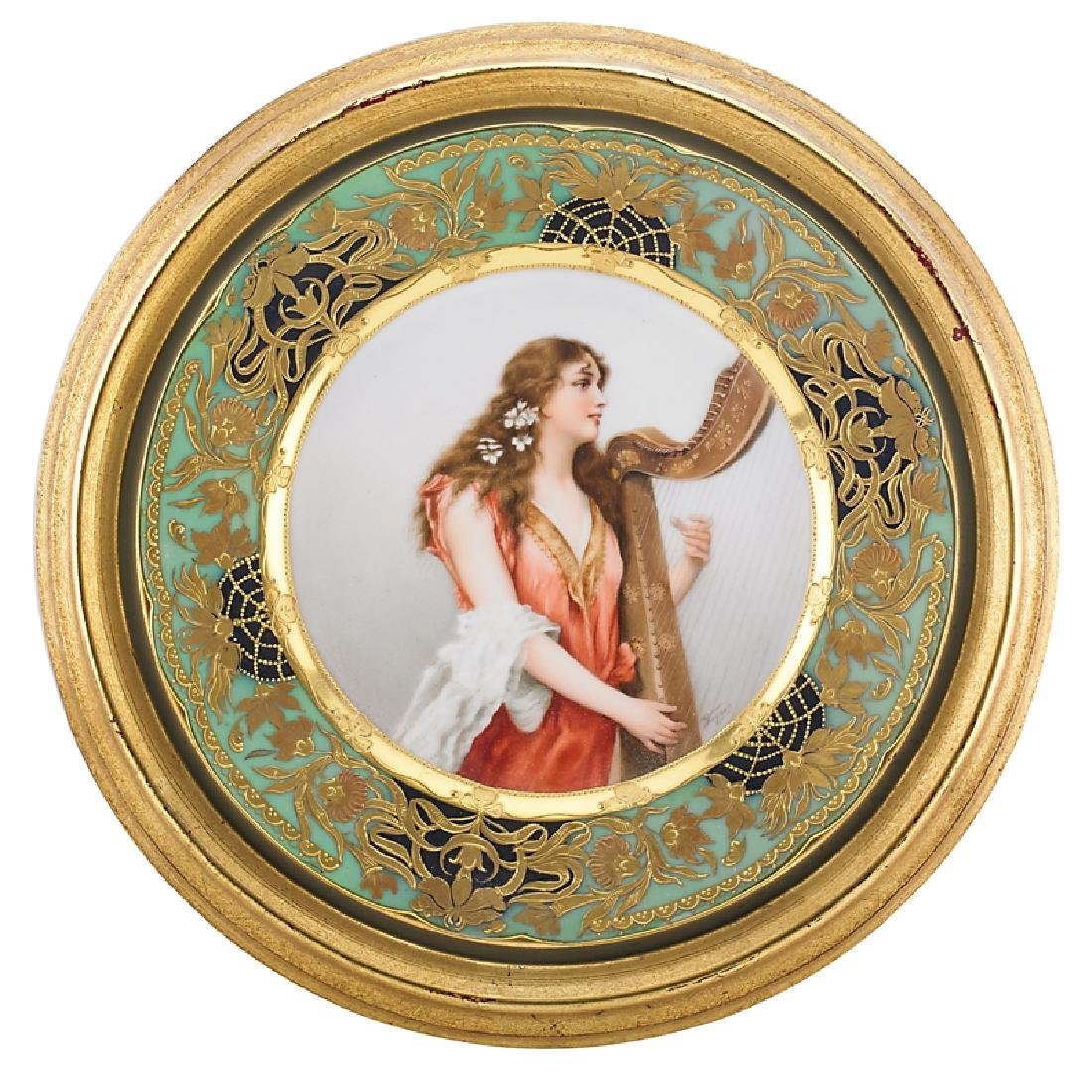 VIENNA STYLE PORCELAIN CABINET PLATE