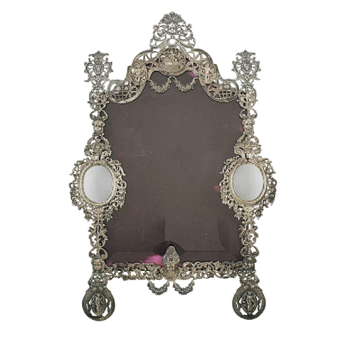 DUTCH VICTORIAN SILVER PICTURE FRAME