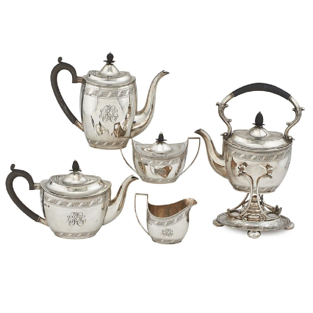 GEORGE V SILVER TEA SET