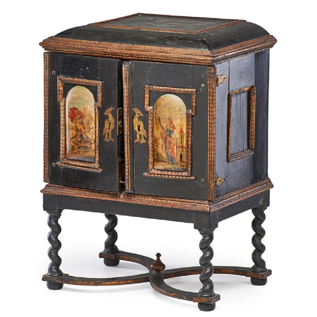 ITALIAN PAINTED TABLE CABINET