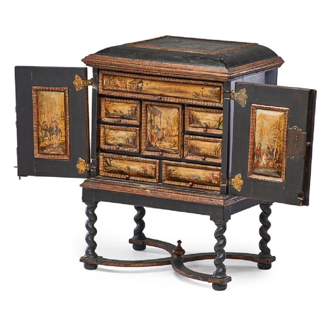 ITALIAN PAINTED TABLE CABINET - 2