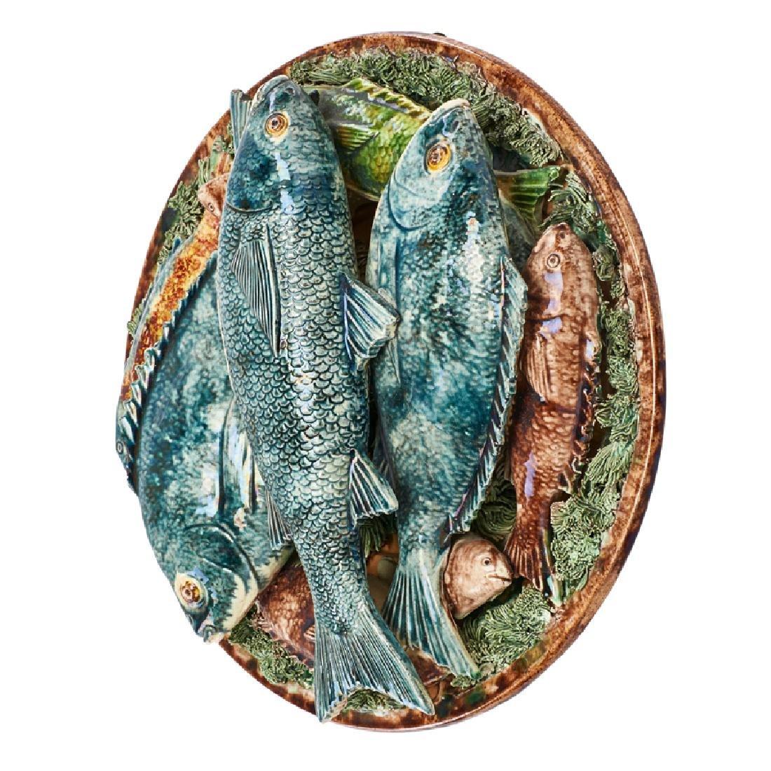 PALISSYWARE FIGURAL FISH PLAQUE - 2