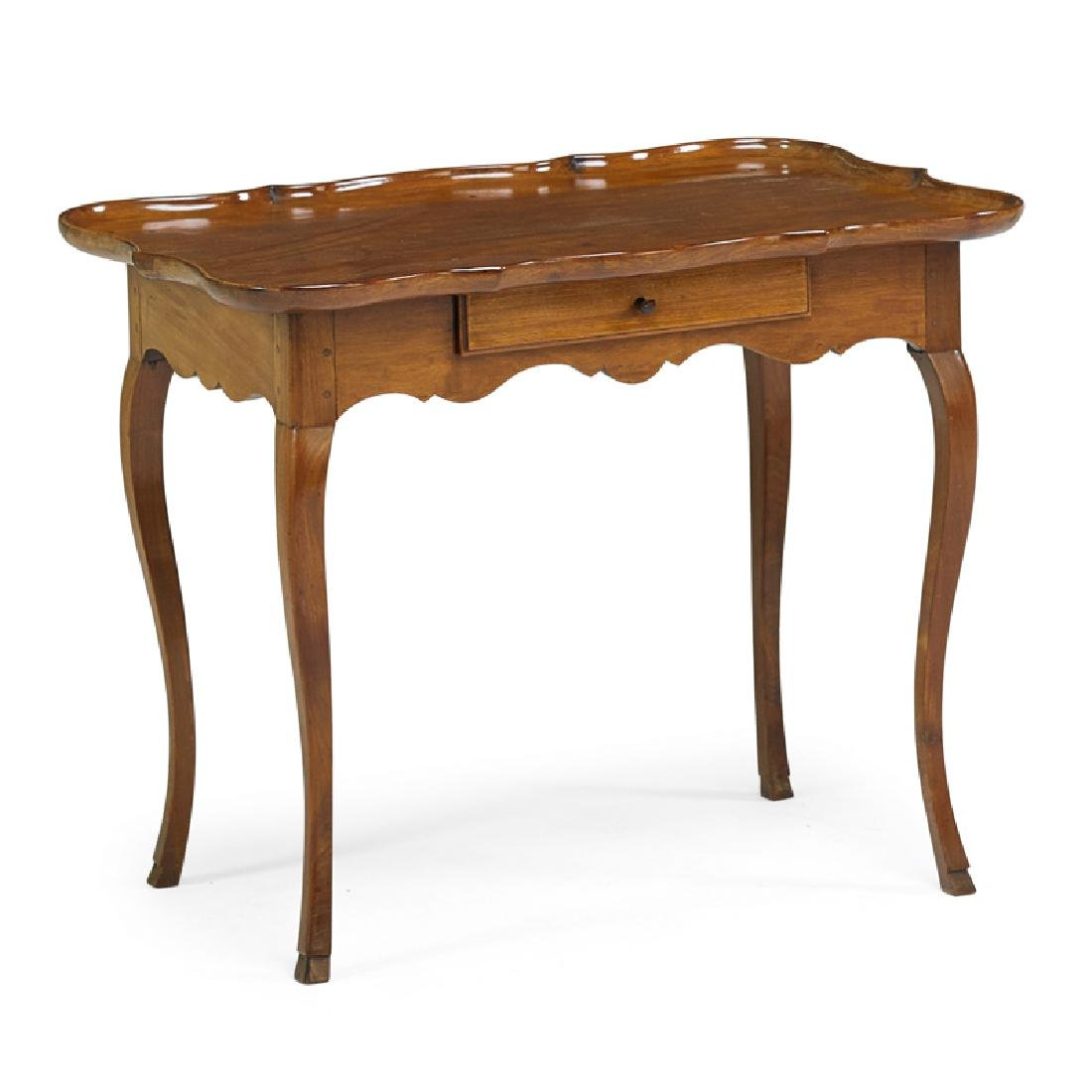 LOUIS XV STYLE CHERRY WORK TABLE