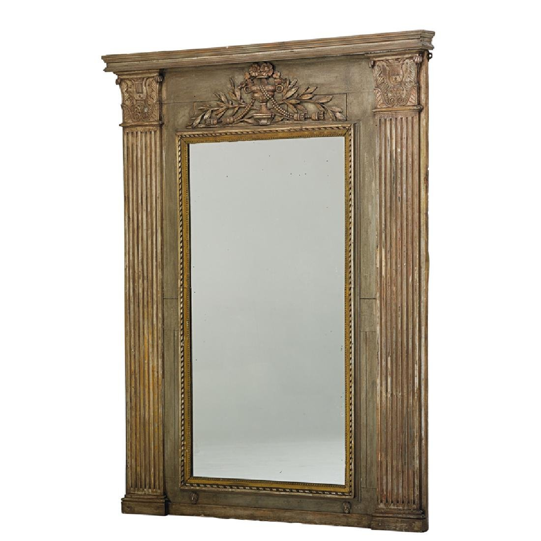 LOUIS XVI STYLE PAINTED MIRROR