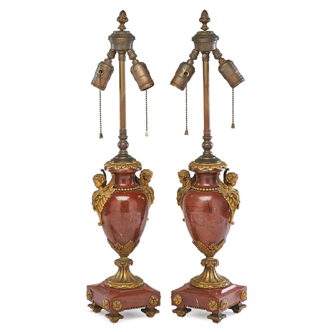 PAIR OF LOUIS XVI STYLE TABLE LAMPS