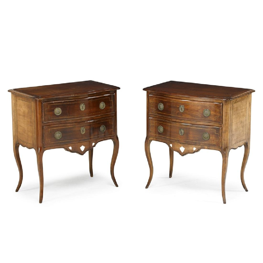 PAIR OF CONTINENTAL CHERRY COMMODES