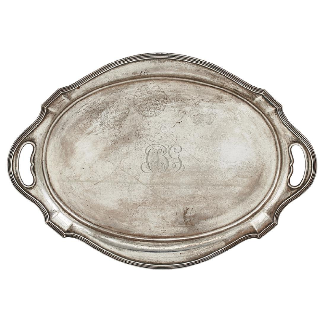 GORHAM STERLING SILVER TEA SET AND TRAY - 2