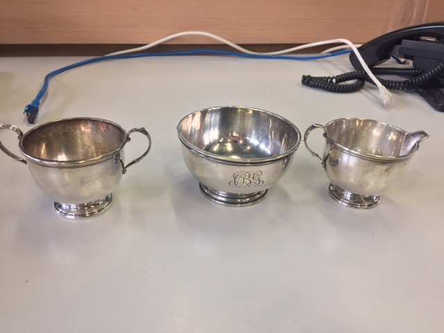 GORHAM STERLING SILVER TEA SET AND TRAY - 3