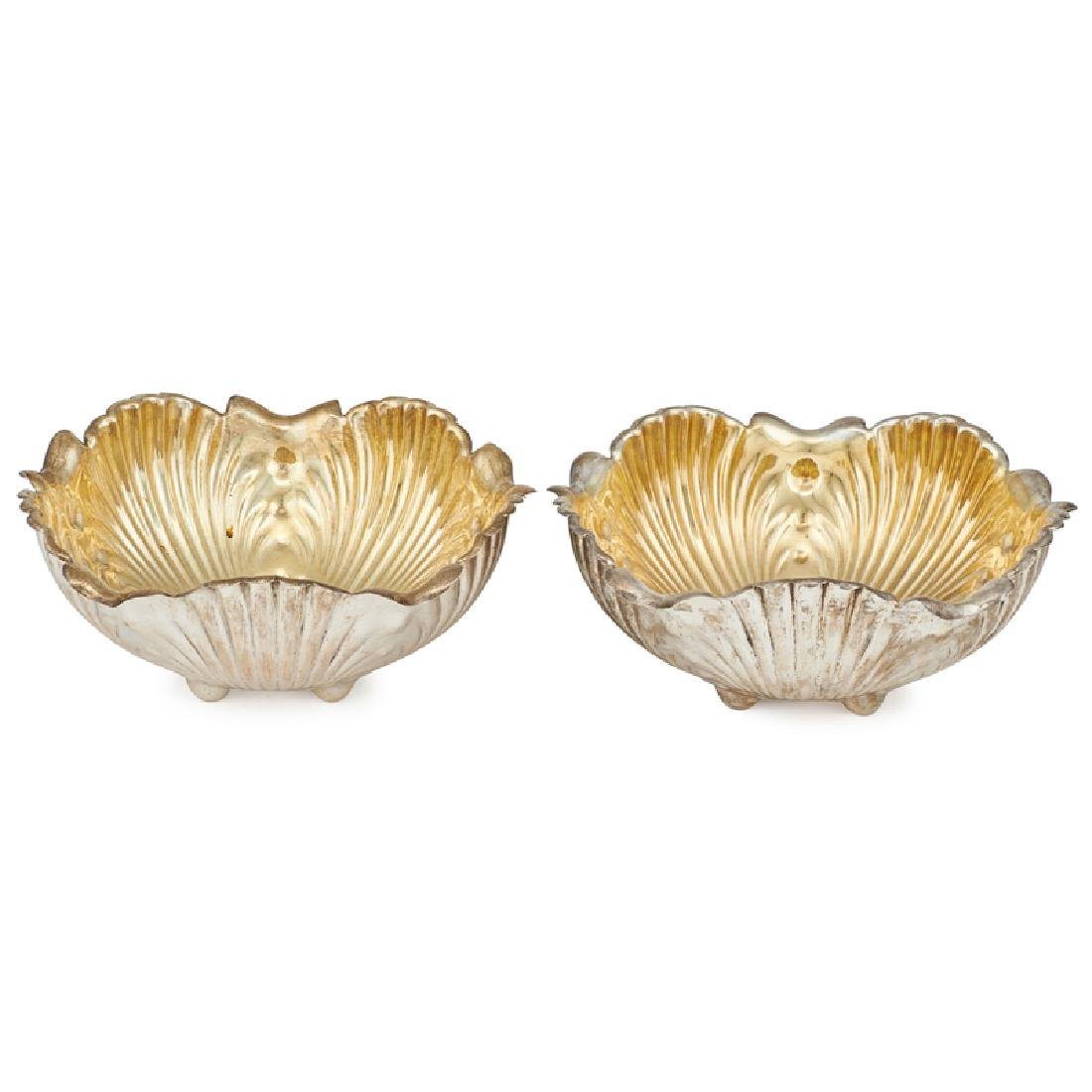 WHITING CABBAGE FORM STERLING SILVER SALAD BOWLS