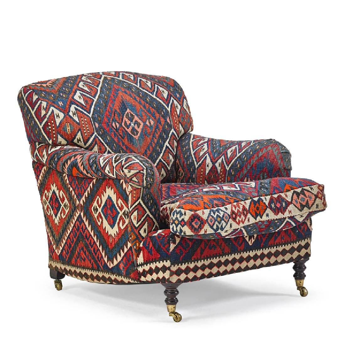 GEORGE SMITH KILIM UPHOLSTERED CHAIR