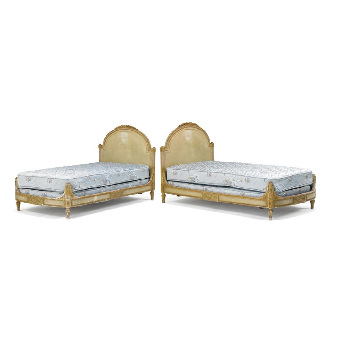 PAIR OF LOUIS XVI STYLE TWIN BEDS