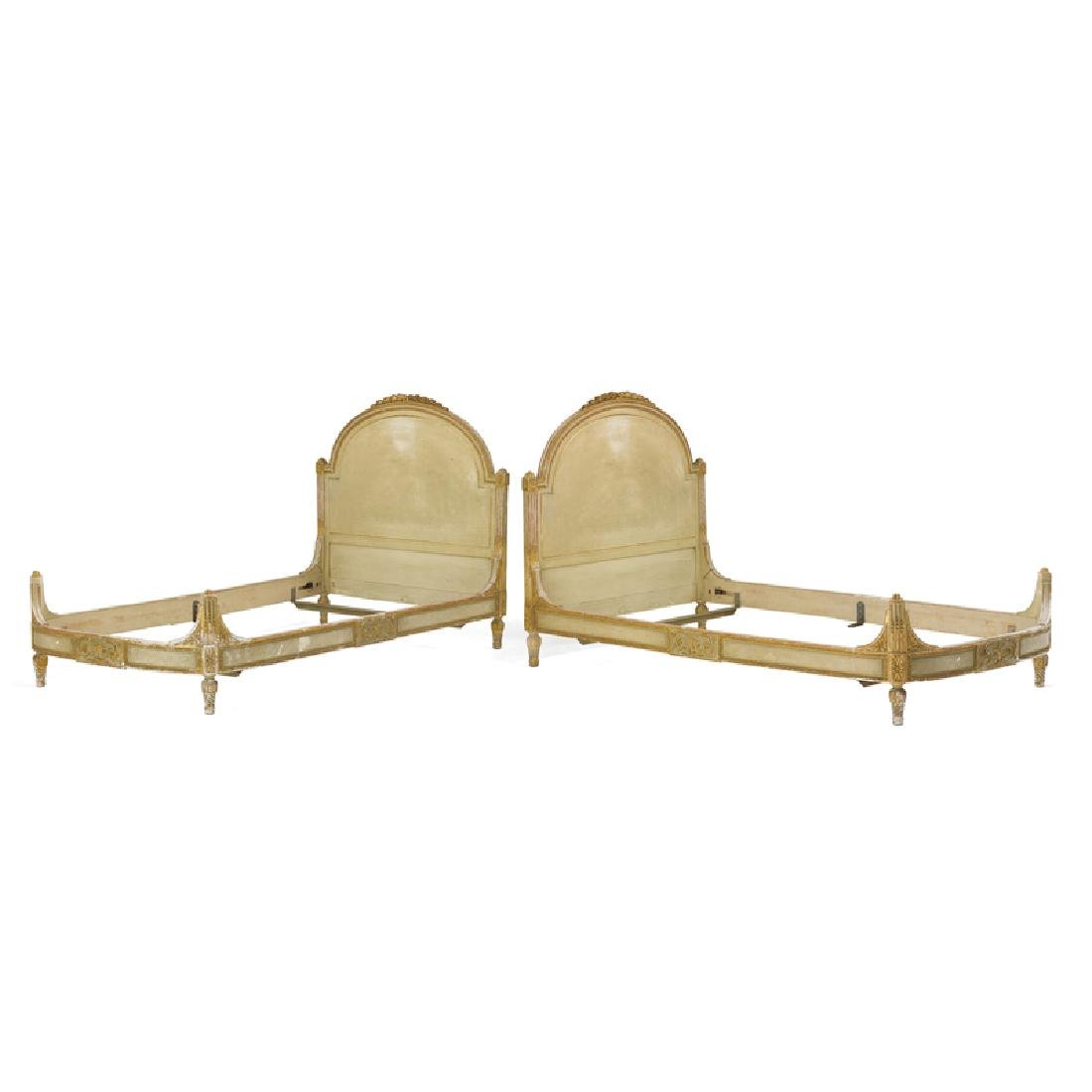 PAIR OF LOUIS XVI STYLE TWIN BEDS - 2
