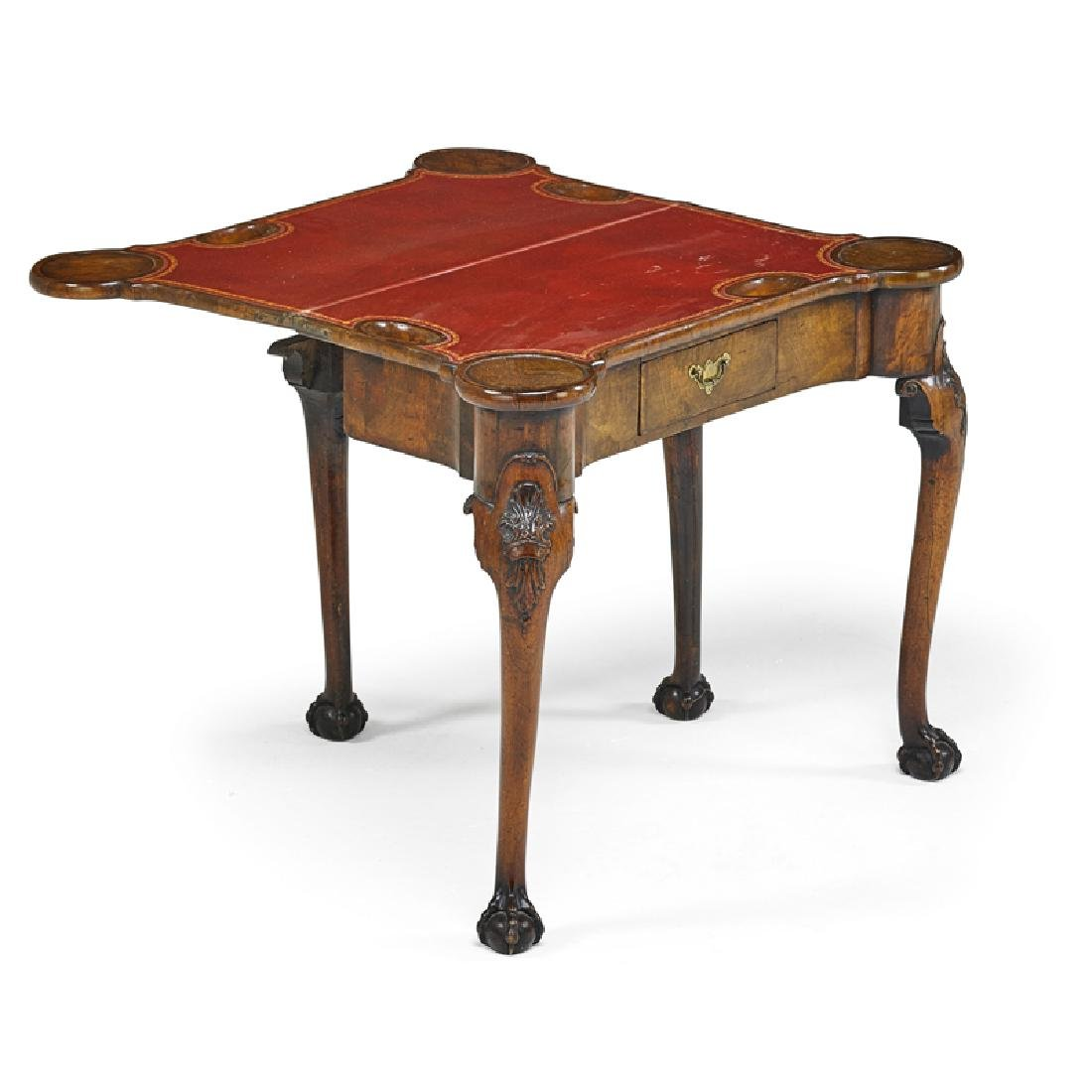 GEORGE II MAHOGANY GAME TABLE - 2
