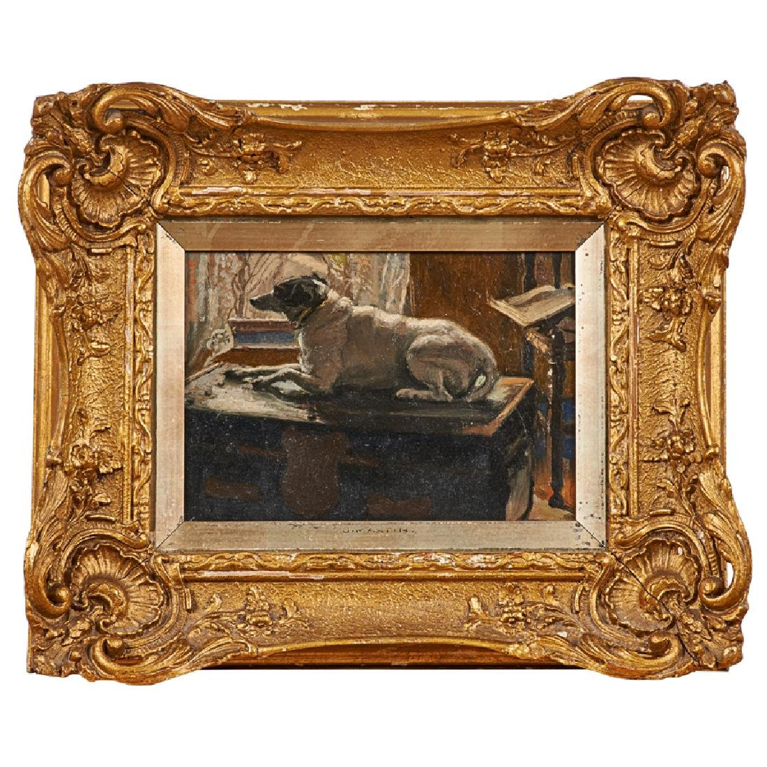 EARLY 20TH C. DOG STUDY