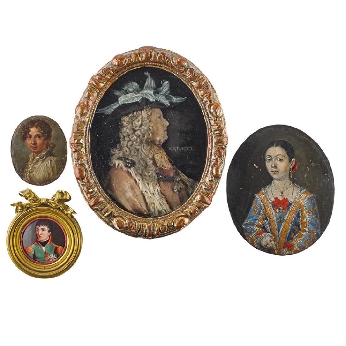 GROUP OF PORTRAIT MINIATURES