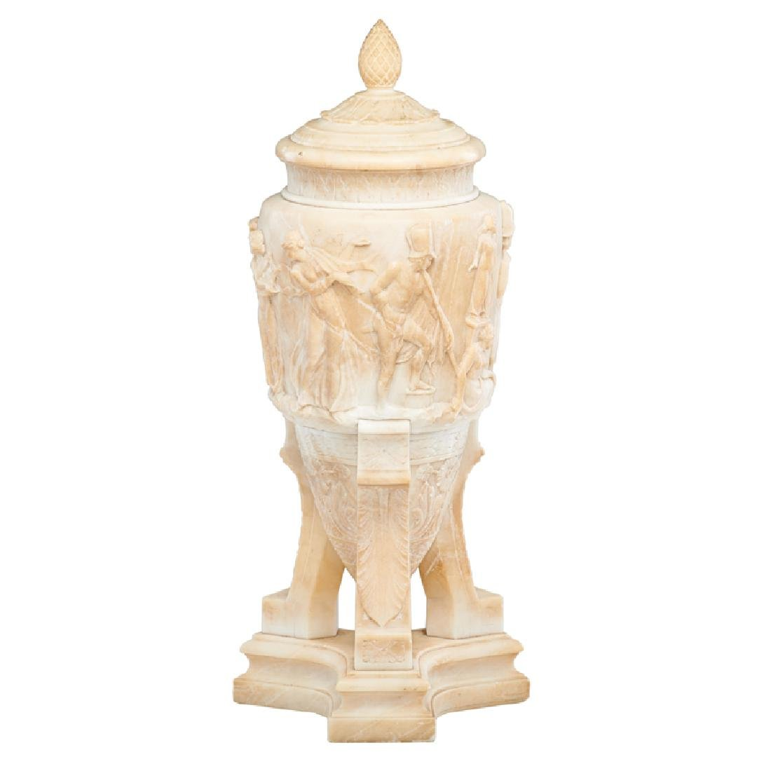 NEOCLASSICAL STYLE ALABASTER LAMP