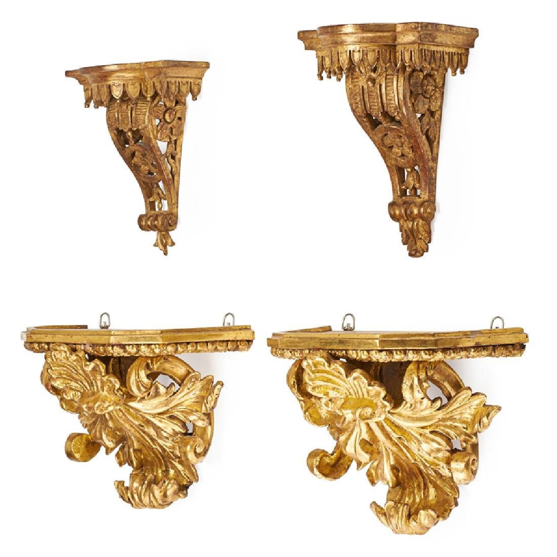 GROUP OF SCONCES/WALL BRACKETS