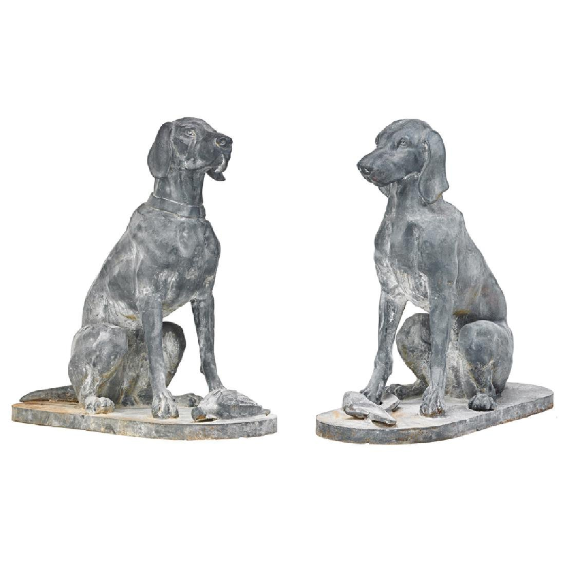 PAIR OF CAST IRON DOGS