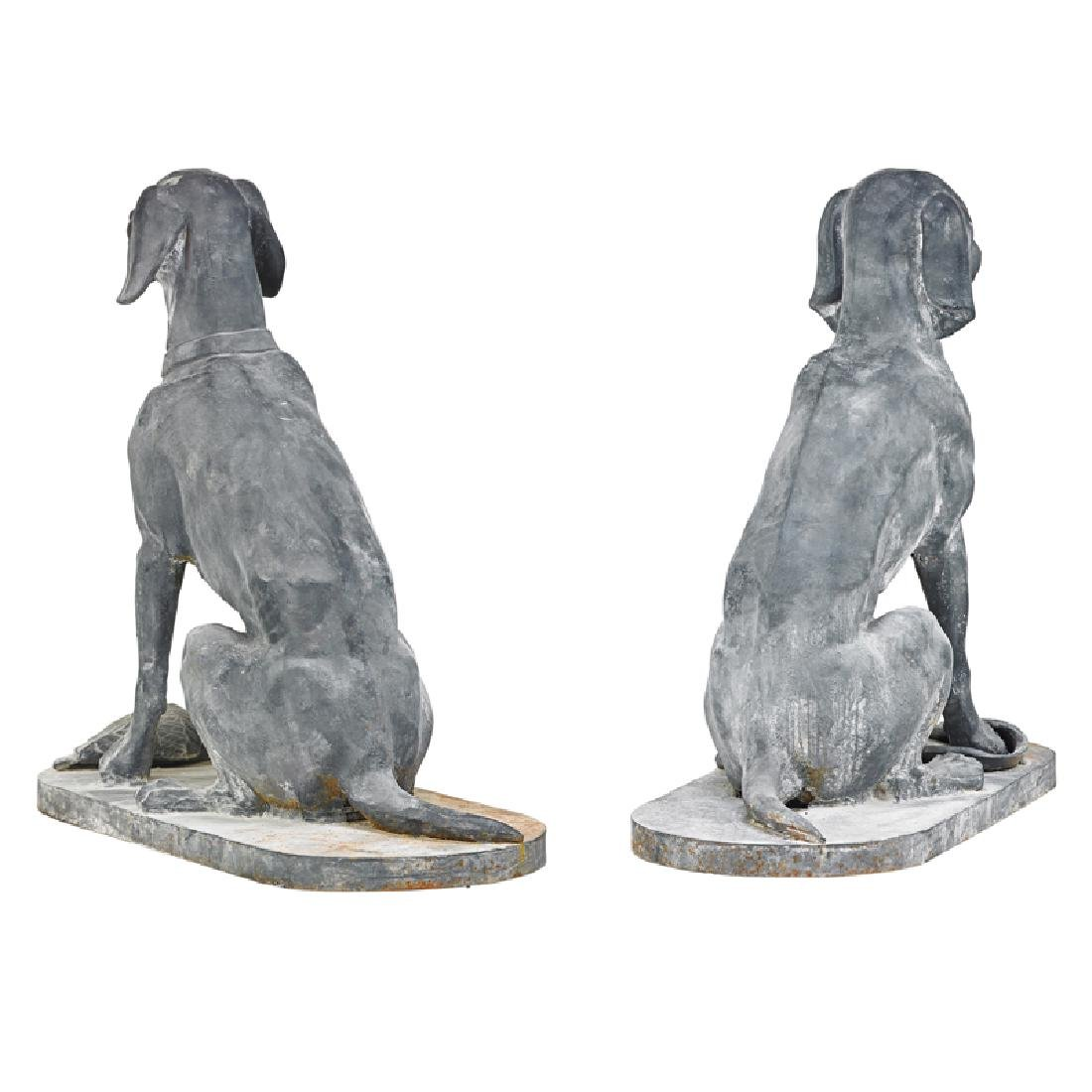 PAIR OF CAST IRON DOGS - 2
