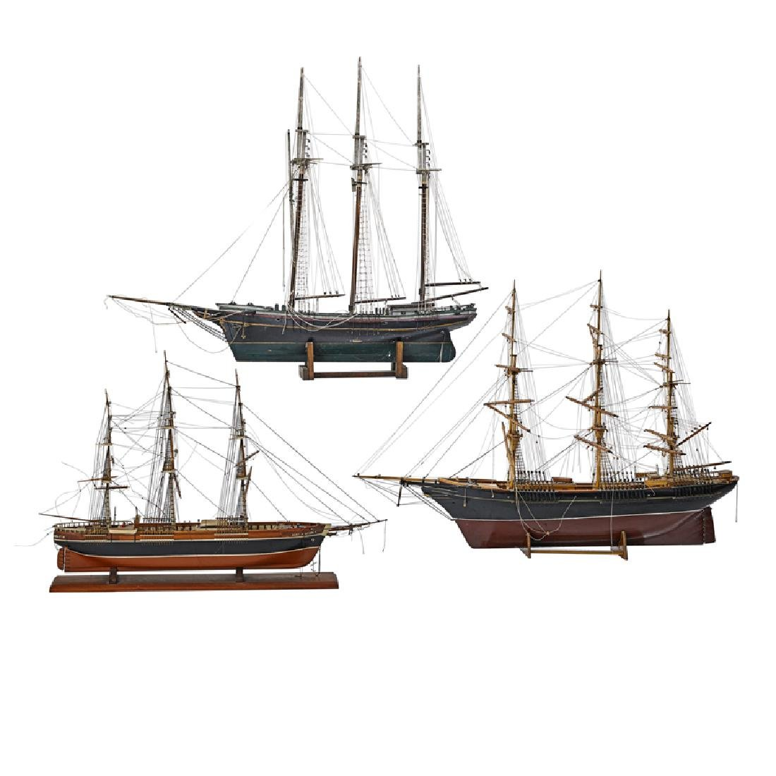 GROUP OF SHIP MODELS