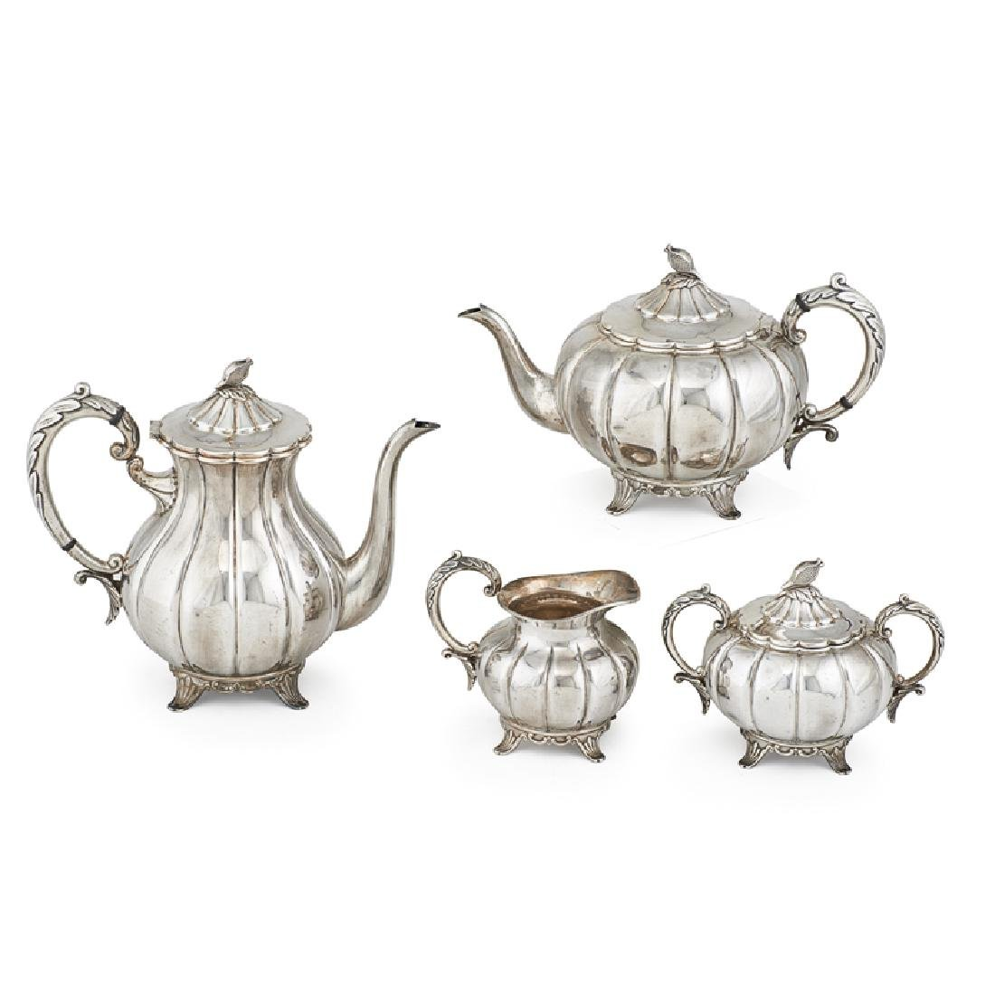 TOSHIKAZU JAPANESE SILVER TEA SET
