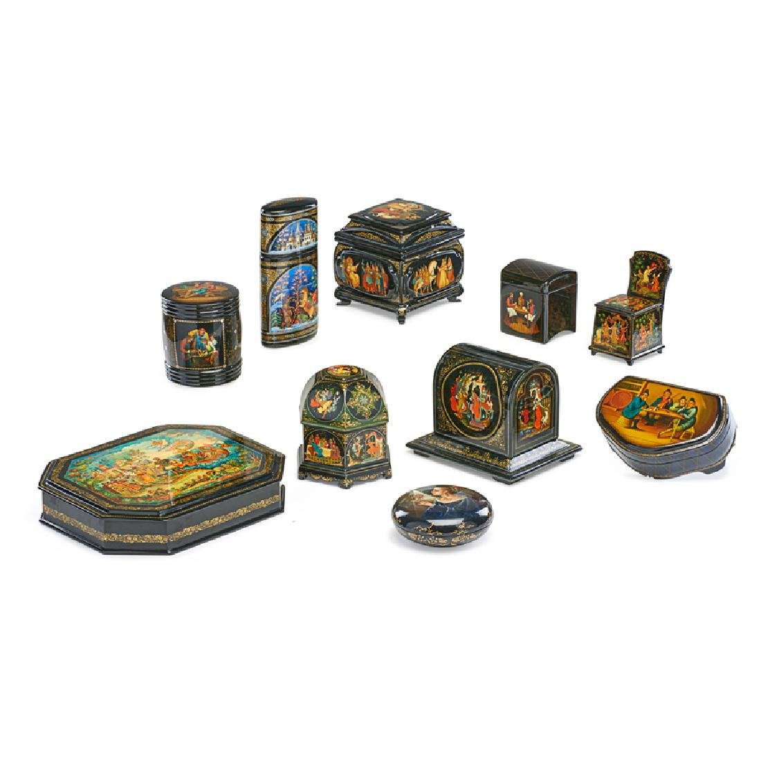 RUSSIAN LACQUER BOXES - 2