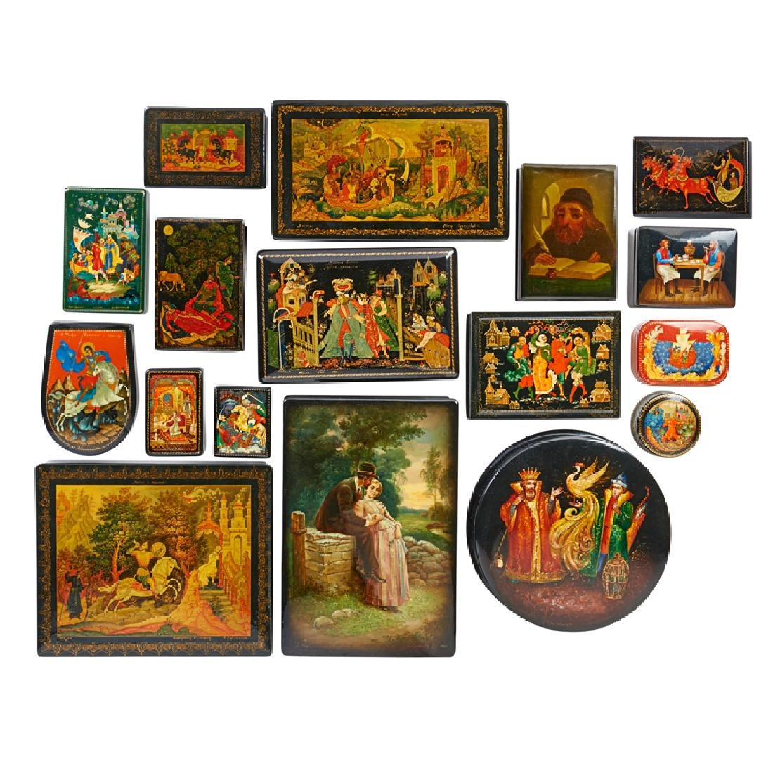 RUSSIAN LACQUER BOXES