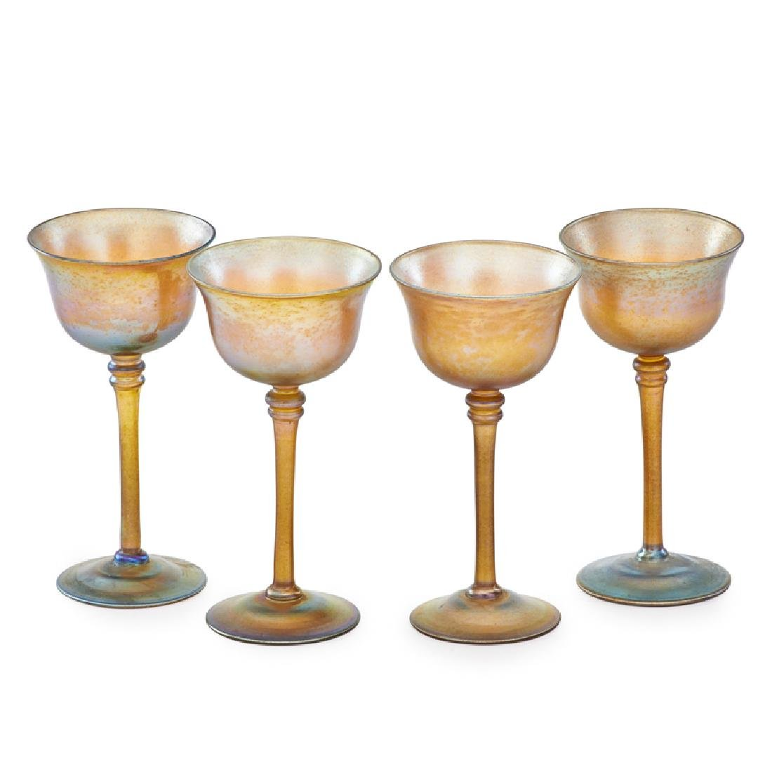 TIFFANY STUDIOS FAVRILE WINE GLASSES