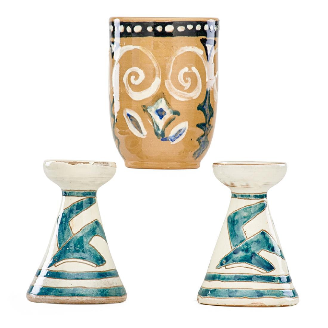 SHEARWATER Vase and two candlesticks