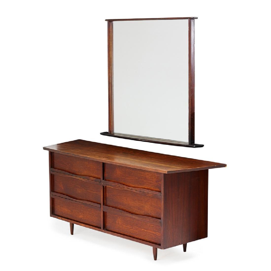 GEORGE NAKASHIMA; WIDDICOMB Dresser w/ mirror
