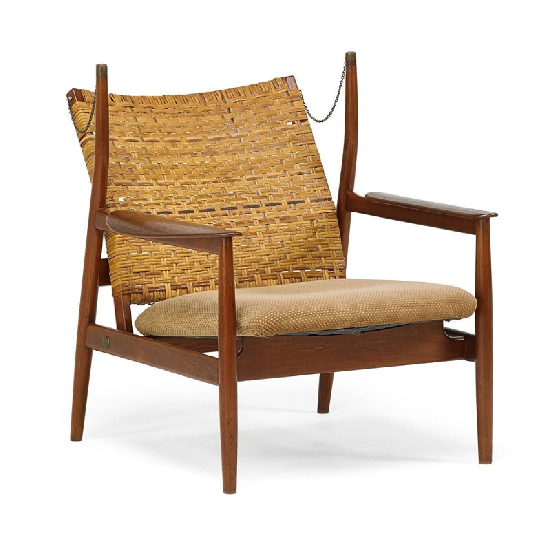 FINN JUHL; NIELS VODDER Adjustable lounge chair