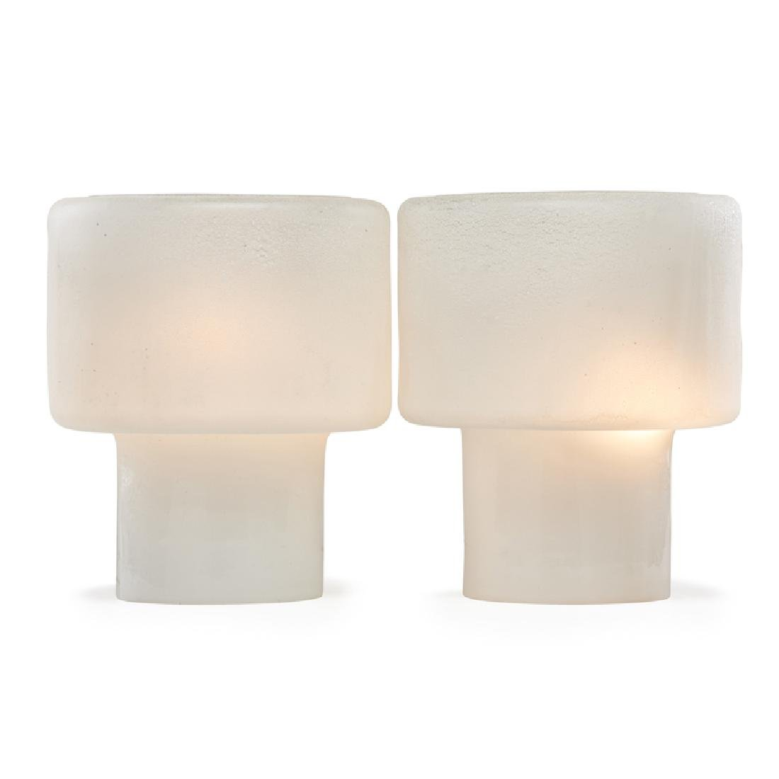 ALFREDO BARBINI Pair of lamps