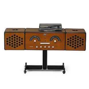 CASTIGLIONI; BRIONVEGA Radio and turn-table