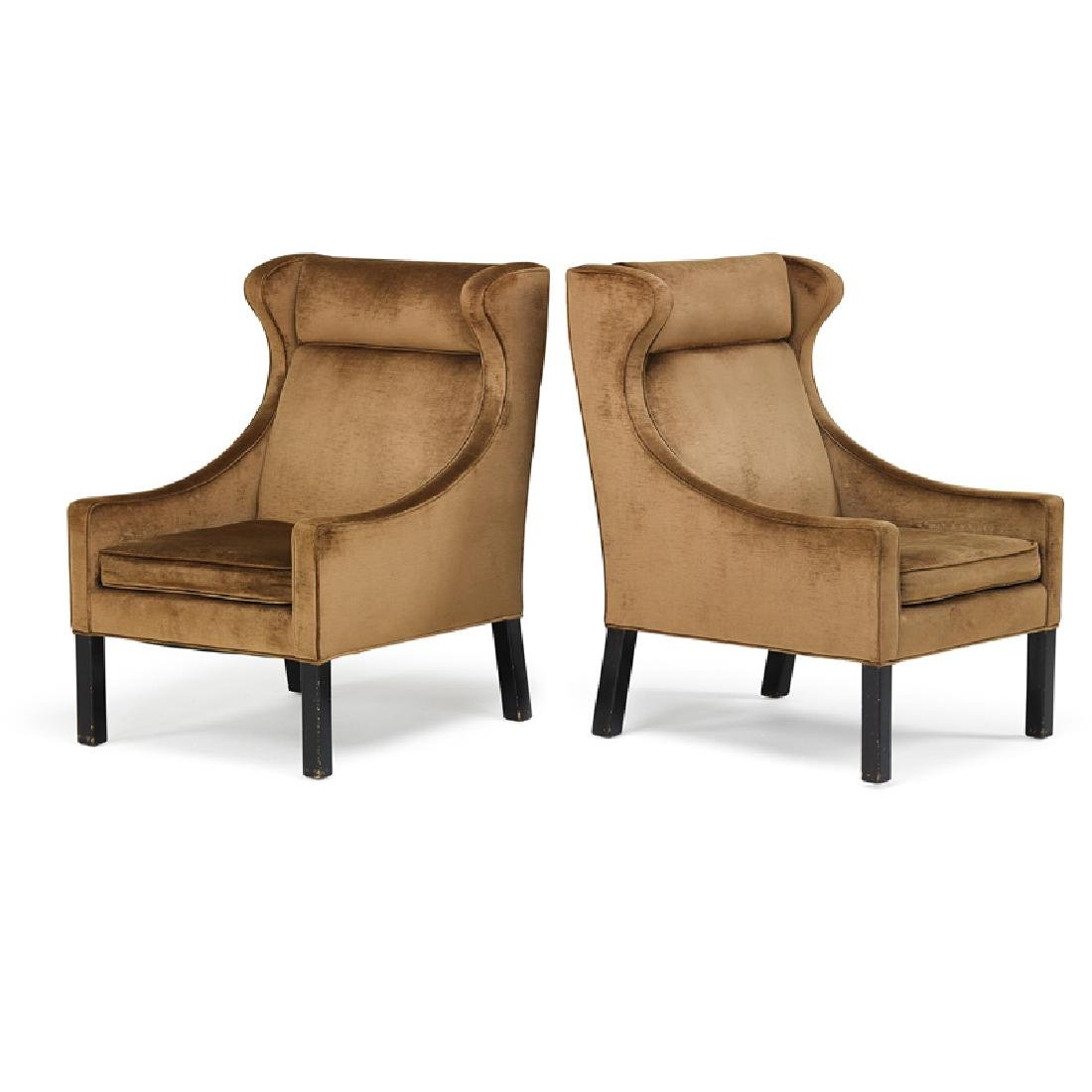 BORGE MOGENSEN Pair of lounge chairs