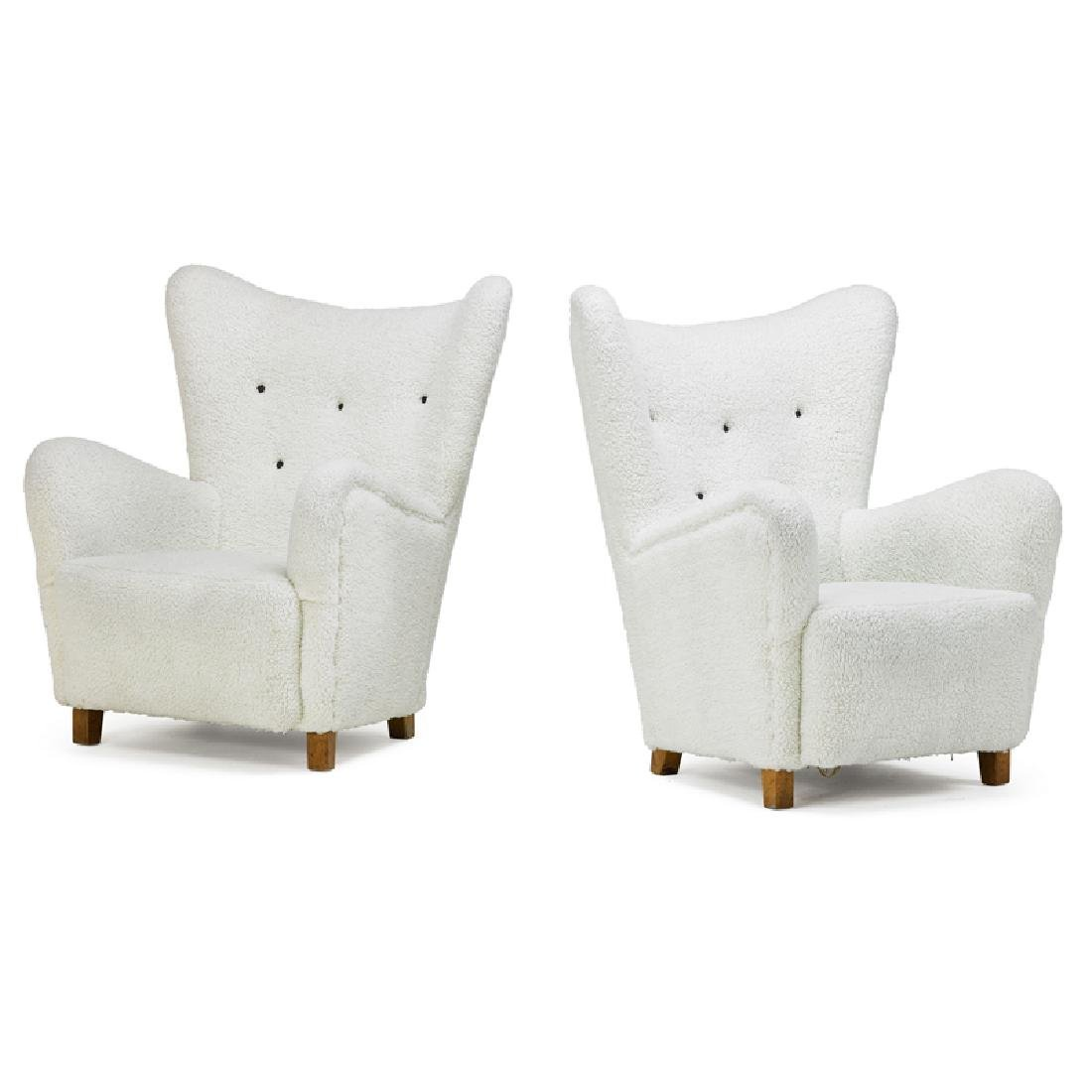 STYLE OF MOGENS LASSEN Pair of lounge chairs